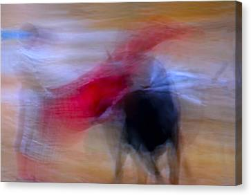 Tauromaquia Abstract Bull-fights In Spain Canvas Print by Guido Montanes Castillo