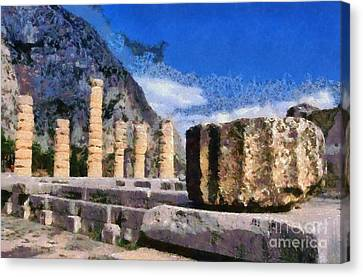 God Canvas Print - Temple Of Apollo In Delphi by George Atsametakis