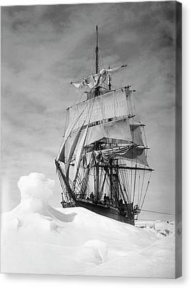 Terra Nova In Antarctic Pack Ice Canvas Print