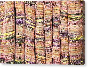 Textile Background Canvas Print by Tom Gowanlock