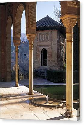 The Alhambra Palace Of The Partal Canvas Print by Guido Montanes Castillo