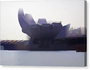 The Artscience Museum In Singapore Canvas Print by Ashish Agarwal
