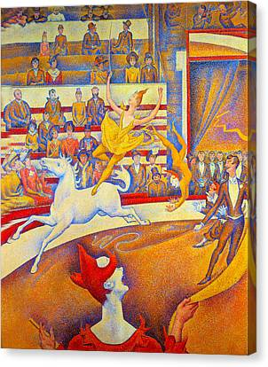 Seurat Canvas Print - The Circus by Georges Seurat