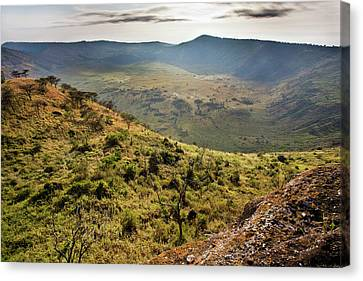 The Crater Area In Queen Elizabeth Canvas Print by Martin Zwick