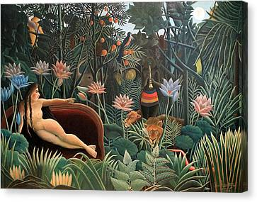 The Dream Canvas Print by Henri Rousseau