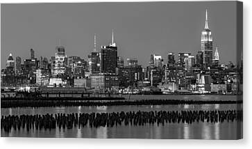 The Empire State Building Pastels Canvas Print by Susan Candelario