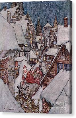 'the Night Before Christmas Canvas Print by Arthur Rackham