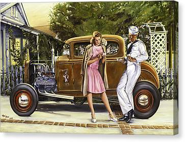 The Sailor's Girl Canvas Print by Ruben Duran
