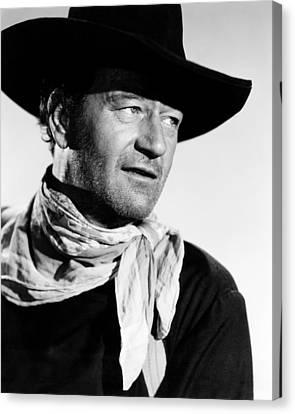 1956 Movies Canvas Print - The Searchers, John Wayne, 1956 by Everett