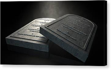 Ten Commandments Canvas Print - The Ten Commandments by Allan Swart