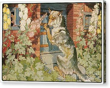 The Three Little Pigs Canvas Print by Granger