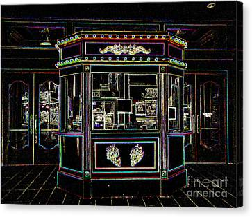 The Tivoli In Neon Canvas Print