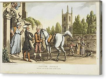 The Tour Of Doctor Syntax Canvas Print by British Library
