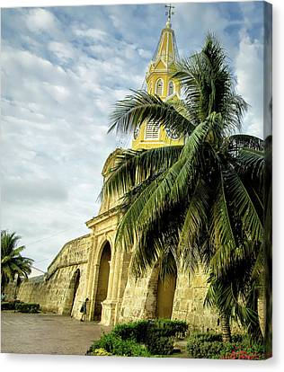 Cartagena Canvas Print - The Venerable Clock Tower, Torre Del by Jerry Ginsberg