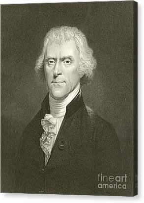 Founding Fathers Canvas Print - Thomas Jefferson by English School