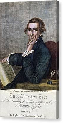Thomas Paine (1737-1809) Canvas Print by Granger