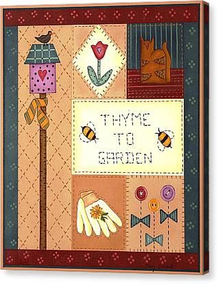 Thyme To Garden Canvas Print