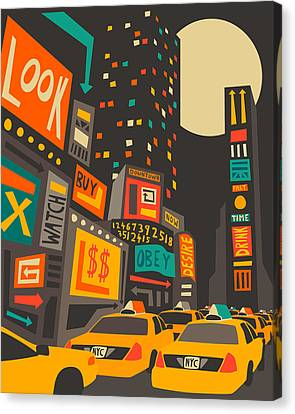 Time Square Canvas Print by Jazzberry Blue