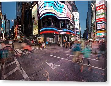 Times Square Series Canvas Print by Josh Whalen