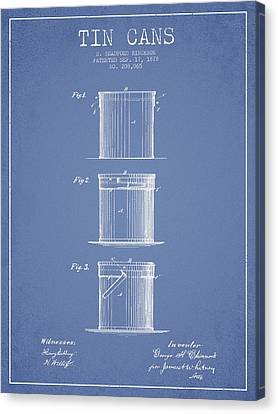 Container Canvas Print - Tin Cans Patent Drawing From 1878 by Aged Pixel