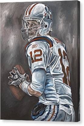 Tom Brady Canvas Print by David Courson