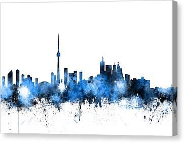 Canada Canvas Print - Toronto Canada Skyline by Michael Tompsett