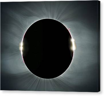 Solar Eclipse Canvas Print - Total Solar Eclipse by Juan Carlos Casado (starryearth.com)