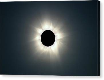 Astronomy Canvas Print - Total Solar Eclipse by Martin Rietze