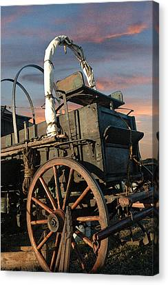 Tough Old Wagon Canvas Print by Robert Anschutz