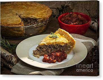 Tourtiere Meat Pie Canvas Print by Elena Elisseeva