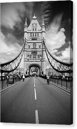 Tower Bridge In London Canvas Print by Chevy Fleet