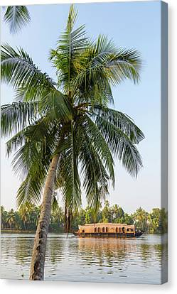 Traditional Houseboat, Kerala Canvas Print by Peter Adams