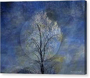 Tree Of Ice Canvas Print by J Larry Walker