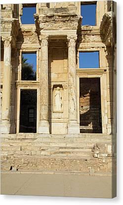 Turkey, Ephesus The Library Of Ephesus Canvas Print by Emily Wilson