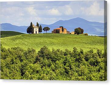 Tuscany - Cappella Di Vitaleta Canvas Print by Joana Kruse