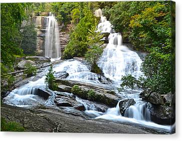 Marvelous View Canvas Print - Twin Falls by Frozen in Time Fine Art Photography