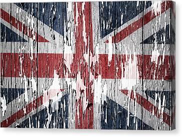 Union Jack Flag Canvas Print by Les Cunliffe
