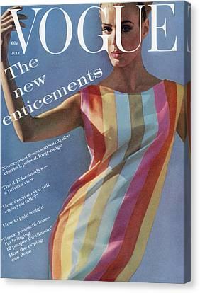 Vogue July 1st, 1961 Canvas Print by Bert Stern
