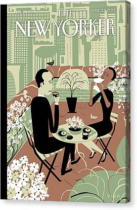 New Yorker April 23rd, 2012 Canvas Print by Frank Viva