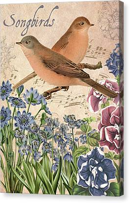 Bird Song Canvas Print - Untitled by Gail Fraser