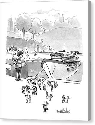 New Yorker August 8th, 2016 Canvas Print by Liam Walsh