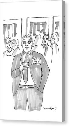 New Yorker January 16th, 2017 Canvas Print by Michael Crawford