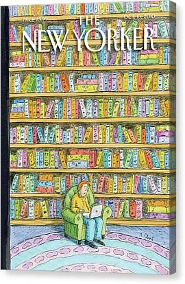 Books Canvas Print - New Yorker October 18th, 2010 by Roz Chast