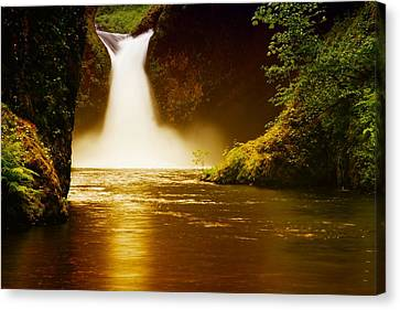 Upper Punch Bowl Falls Canvas Print by Jeff Swan