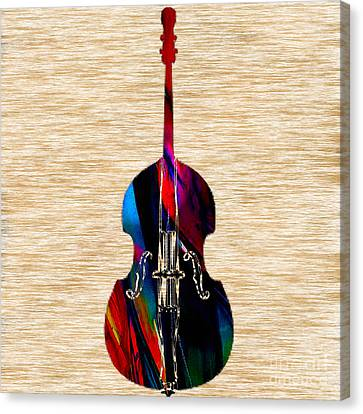 Upright Bass Canvas Print by Marvin Blaine