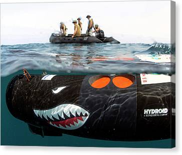 Inflatable Canvas Print - Us Navy Underwater Mine Clearance Drone by U.s. Navy