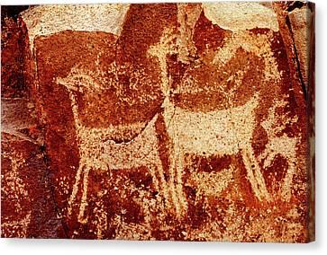 Usa, California, Little Petroglyph Canvas Print
