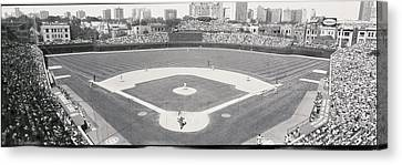 Usa, Illinois, Chicago, Cubs, Baseball Canvas Print