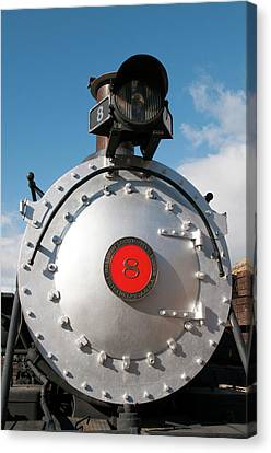Usa, Nevada Old Steam Locomotive Canvas Print