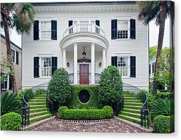 Front Steps Canvas Print - Usa, Sc, Charleston, Historic District by Rob Tilley